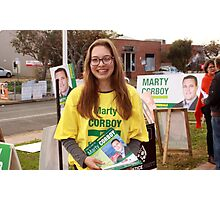 #Indivotes National Party volunteer election day 2016 Photographic Print