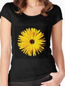 Yellow summer flower  Women's Fitted Scoop T-Shirt