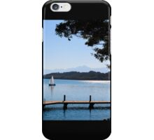 Sailing by in the Blue iPhone Case/Skin