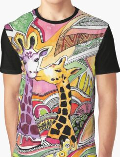 Giraffes in love Graphic T-Shirt