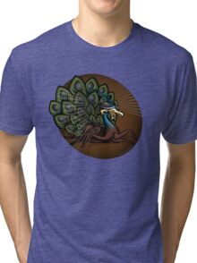 Mutant Zoo - Peacockroach Tri-blend T-Shirt