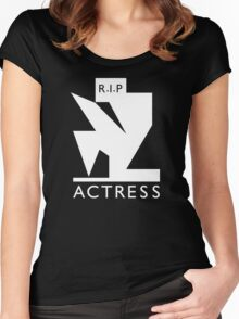 Actress - R.I.P. (white ink) Women's Fitted Scoop T-Shirt