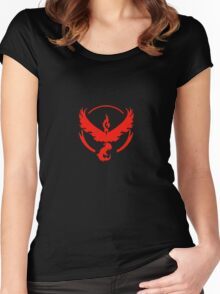 Team Valor (Pokemon Go) Women's Fitted Scoop T-Shirt
