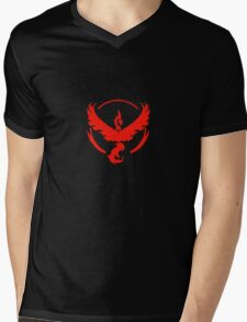 Team Valor (Pokemon Go) Mens V-Neck T-Shirt