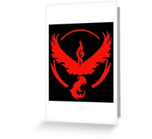 Team Valor (Pokemon Go) Greeting Card