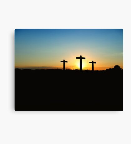 Crosses at Sunset Canvas Print