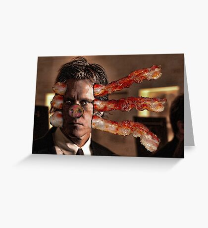 Kevin Bacon Bacon Monster Greeting Card