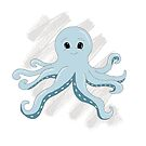Cute Octopus by Michelle *