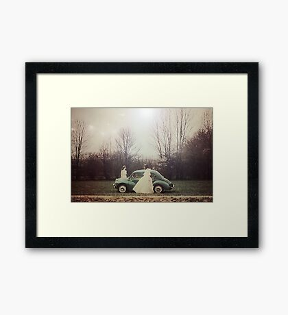 Two nymphes Framed Print