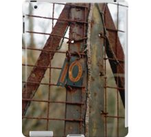 Rusted Number Ten iPad Case/Skin