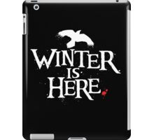 Winter is Here - Small Raven on Black iPad Case/Skin