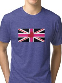 Union flag [leather girl pride] Tri-blend T-Shirt