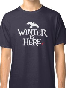 Winter is Here - Small Raven on Black Classic T-Shirt