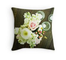 Bouquet of Flowers Throw Pillow