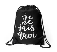 Je Ne Sais Quoi —Version 2 (Black Background) Drawstring Bag