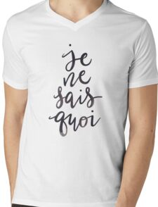 Je Ne Sais Quoi —Version 1 (White Background) Mens V-Neck T-Shirt