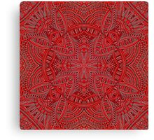 red texture with arabic geometric ornament Canvas Print