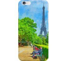 Enjoying the Champ de Mars near the Eiffel Tower iPhone Case/Skin