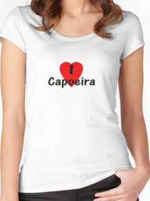 Dance - I Love Capoeira T-Shirt, Camisa & Top Women's Fitted Scoop T-Shirt