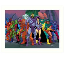 Evil Warriors Filmation Style Art Print