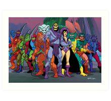 Evil Warriors Filmation Style Art Print