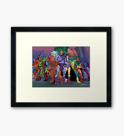 Evil Warriors Filmation Style Framed Print