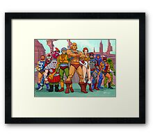 Heroic Warriors Filmation style Framed Print