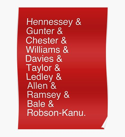 Wales Starting 11 Poster