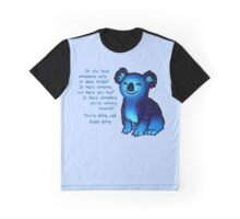 """You're Doing Well"" Galaxy Koala Graphic T-Shirt"