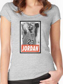 (BASKETBALL) Michael Jordan Women's Fitted Scoop T-Shirt