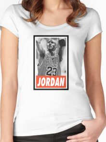 (BASKETBALL) Michael Jordan Women's Fitted Scoop T-Shirt