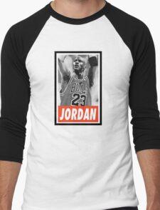 (BASKETBALL) Michael Jordan Men's Baseball ¾ T-Shirt