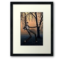 Slender Man Elvis Framed Print