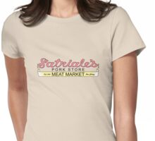 Satriale's - Meat Market Original Creme Womens Fitted T-Shirt