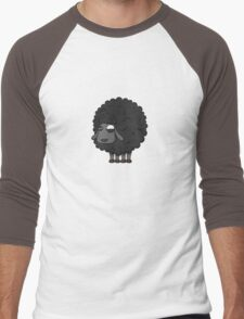 Black sheep cartoon Men's Baseball ¾ T-Shirt