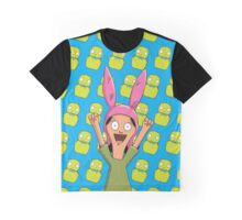 Louise Belcher Light Pattern Blue Graphic T-Shirt