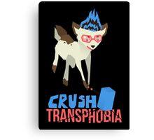 CRUSH TRANSPHOBIA Canvas Print