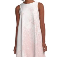 Earth Sweat Design (Rose Quartz Color) A-Line Dress