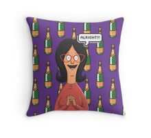Linda Belcher Wine Pattern Purple Throw Pillow