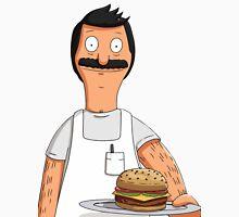 Bob Belcher Burger Pattern Blue Unisex T-Shirt
