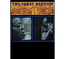 Louis Armstrong Duke Ellington Photographic Print