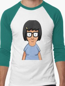 Tina Belcher Unicorn Pattern Blue Men's Baseball ¾ T-Shirt