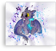 Toothless the dragon Canvas Print