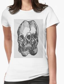 Double Trouble Womens Fitted T-Shirt