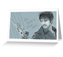 Dark Hook Greeting Card