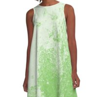 Earth Sweat Design (Green Flash Color) A-Line Dress