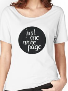 Just One More Page Women's Relaxed Fit T-Shirt