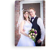 Tucker Wedding - Bride and Groom Canvas Print