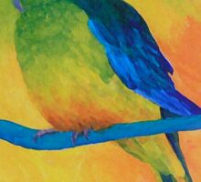 Orange-bellied Parrot Sticker
