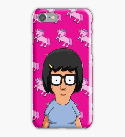 Tina Belcher Unicorn Pattern Hot Pink iPhone Case/Skin